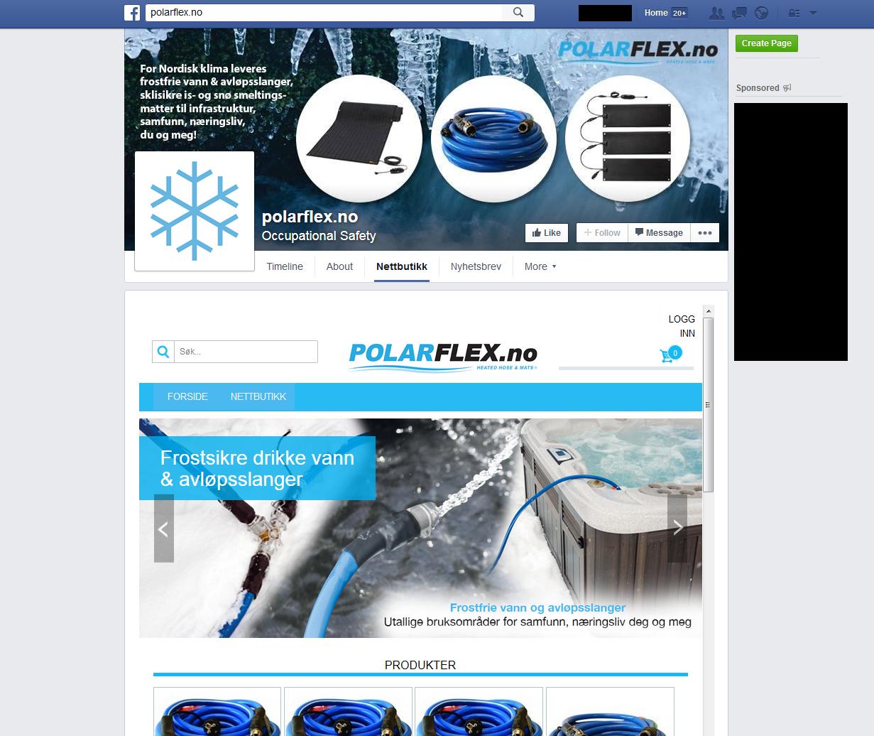 Facebook Nettbutikk levert av Netpower